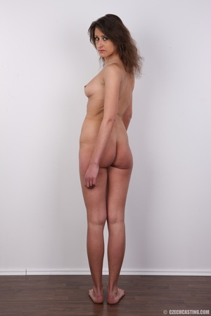 Hot tempting chick in black strips nude  - XXX Dessert - Picture 17