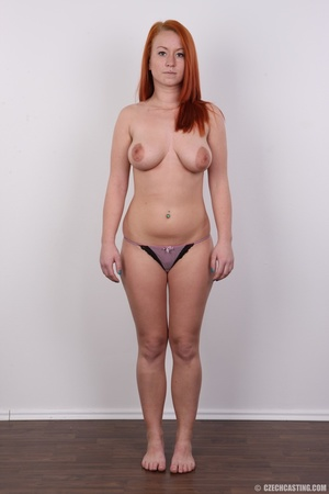 Sexy redhead with inviting big tits, pie - XXX Dessert - Picture 9