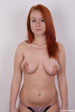 Sexy redhead with inviting big tits, pie - XXX Dessert - Picture 11