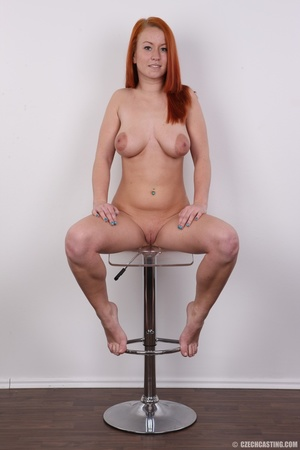 Sexy redhead with inviting big tits, pie - XXX Dessert - Picture 19