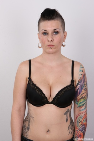 Tattooed pierced chick with big round ti - XXX Dessert - Picture 6