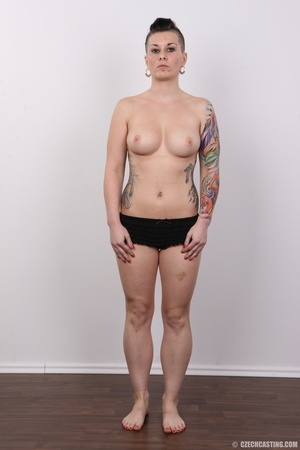 Tattooed pierced chick with big round ti - XXX Dessert - Picture 9