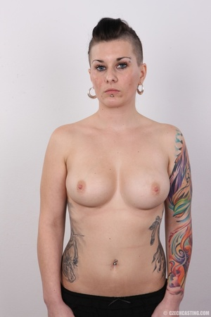 Tattooed pierced chick with big round ti - XXX Dessert - Picture 11