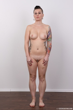 Tattooed pierced chick with big round ti - XXX Dessert - Picture 14