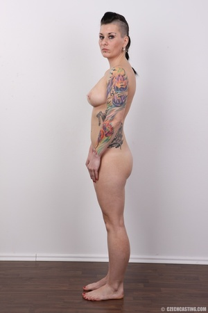 Tattooed pierced chick with big round ti - XXX Dessert - Picture 15