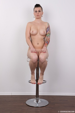 Tattooed pierced chick with big round ti - XXX Dessert - Picture 19