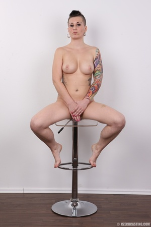 Tattooed pierced chick with big round ti - XXX Dessert - Picture 20