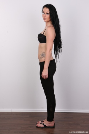 Sweet looking brunette with tattoos and  - XXX Dessert - Picture 6