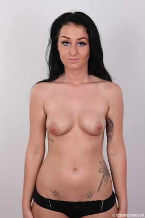 Sweet looking brunette with tattoos and  - XXX Dessert - Picture 12
