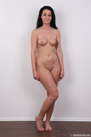Sweet looking brunette with tattoos and  - XXX Dessert - Picture 15