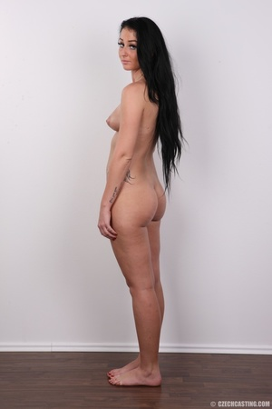 Sweet looking brunette with tattoos and  - XXX Dessert - Picture 16