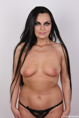 Hot dark hair and dark eyes milf proudly - XXX Dessert - Picture 11