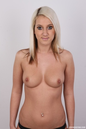Sweet lusty blonde in hot red bra and bl - XXX Dessert - Picture 11
