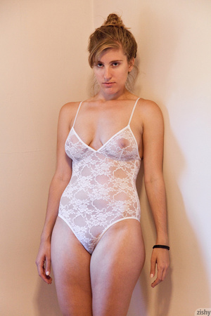 Hot blonde freshie in a transparent lace - XXX Dessert - Picture 2