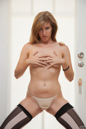 Hot blonde freshie in a transparent lace - XXX Dessert - Picture 7