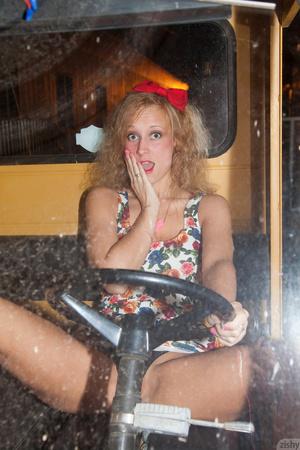 Mischievous blonde teeny in a sexy short - XXX Dessert - Picture 5