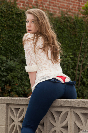 Slim teen redhead in sexy skinny jeans o - XXX Dessert - Picture 11