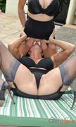 black, lesbian, pantyhose, stockings