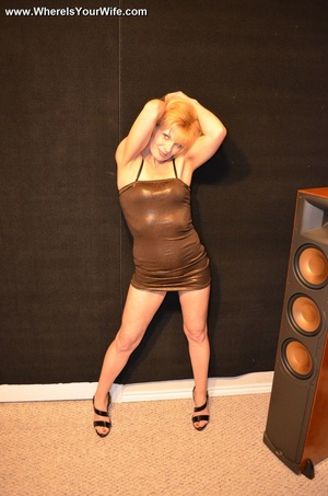 Slutty blonde granny in a black dress an - XXX Dessert - Picture 2