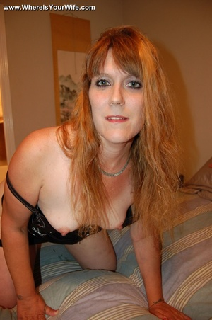 Curvy ginger MILF in a skinny short dres - XXX Dessert - Picture 10
