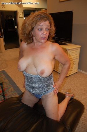 Big-titted curly granny in a silver dres - XXX Dessert - Picture 6