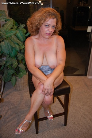 Big-titted curly granny in a silver dres - XXX Dessert - Picture 8