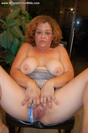 Big-titted curly granny in a silver dres - XXX Dessert - Picture 9