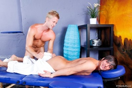 gay, massage, table