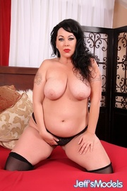 raven-haired chubster black lingerie