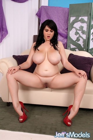 Beverly Page - chubby raven-haired beauty black