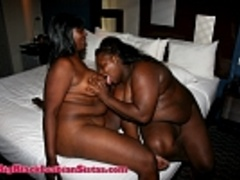 Chocolate and Betty's titty foreplay and lezzie - Picture 4