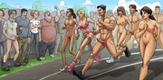 naked cartoon marathon and
