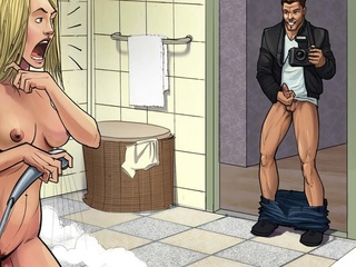 From kinky toon voyeur in the shower to group fucking - Picture 1
