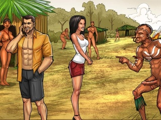 Hard banging with Amazonian aboriginals and group - Picture 4