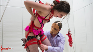 bikini, mask, rough sex, stockings
