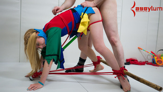 bondage, clown, hogtied, rough sex