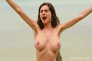 Thin brunette with really heavy boobs ta - XXX Dessert - Picture 14