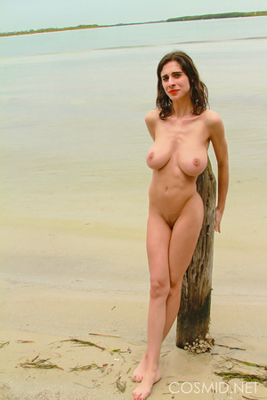 Thin brunette with really heavy boobs ta - XXX Dessert - Picture 15