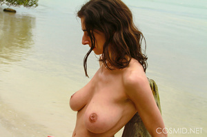 Thin brunette with really heavy boobs ta - XXX Dessert - Picture 16