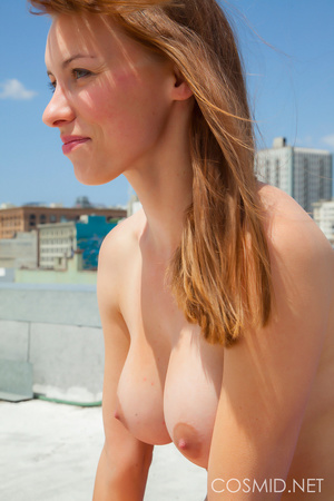 Hot chick on the rooftop unravels everyt - XXX Dessert - Picture 7