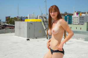 Hot chick on the rooftop unravels everyt - XXX Dessert - Picture 9