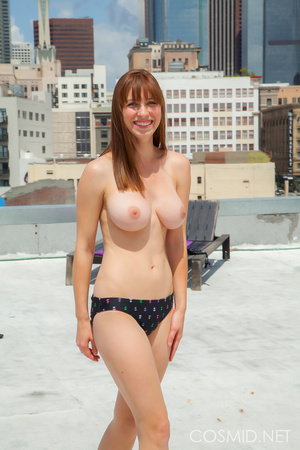 Hot chick on the rooftop unravels everyt - XXX Dessert - Picture 10
