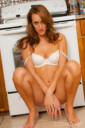 Brunette in her kitchen lets you take a  - XXX Dessert - Picture 10