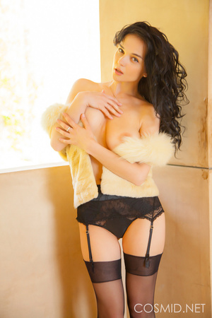 Pretty woman in sexy black stockings and - XXX Dessert - Picture 14