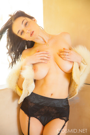 Pretty woman in sexy black stockings and - XXX Dessert - Picture 15