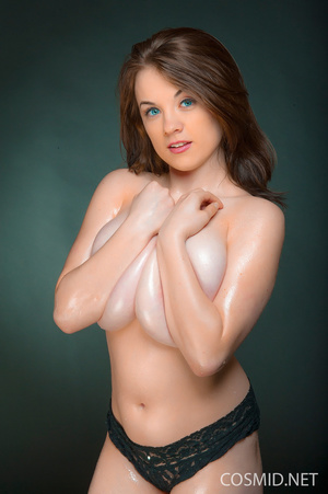 Petite brunette in wet tees and black la - XXX Dessert - Picture 13