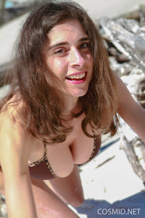 Slender brunette with heavy boobs goes s - XXX Dessert - Picture 1