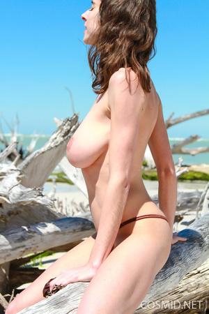 Slender brunette with heavy boobs goes s - XXX Dessert - Picture 10