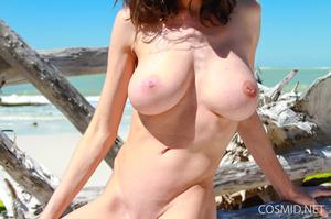 Slender brunette with heavy boobs goes s - XXX Dessert - Picture 15