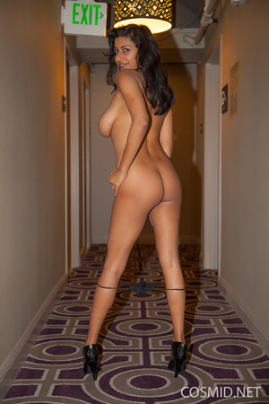Latina with see-through dress over see-t - XXX Dessert - Picture 14